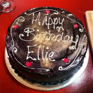 A personalised cake. Nice touch.