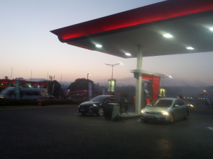 Stopping for petrol at 6am on your way to the airport sucks, though