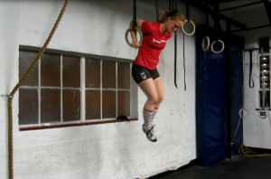 Like muscle ups with a shoulder injury aren't a good idea