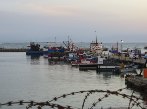 Just some fishing boats & barbed wire