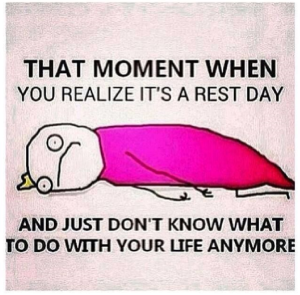 Except dealing with rest days.