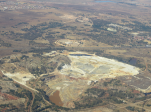 Some of the gold mines, as seen from the air