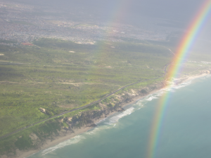 Double rainbow from the air :)
