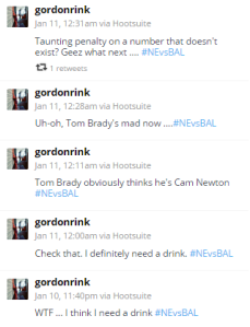 In the meantime it generated Tweets like this (and no I wasn't drinking!)