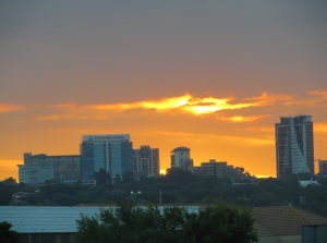 Sunset over Sandton